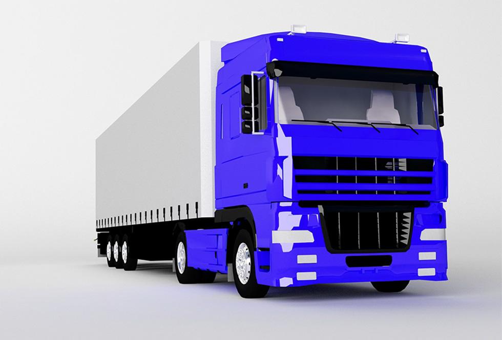 Transport en aflevering van stalen onderdelen met vrachtwagen